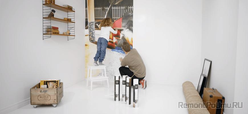 Фотообои как клеить на стену