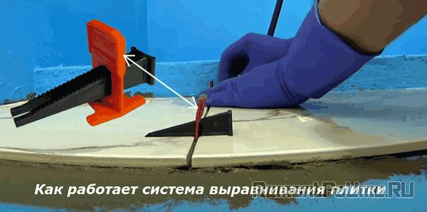 Как работает система выравнивания плитки