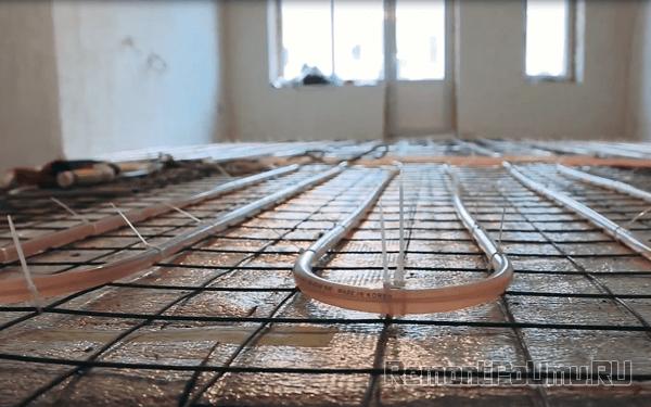 Монтаж электро водяного теплого пола