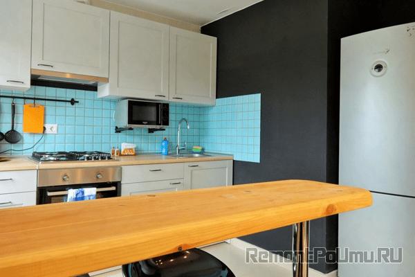 Покраска стен на кухне