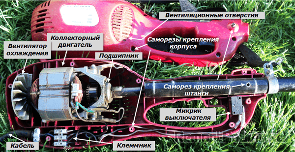 Устройство электрического триммера
